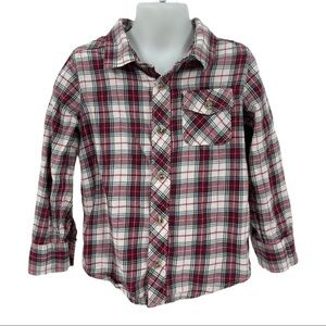 Old Navy Plaid Long Sleeve Button Down Shirt 5T